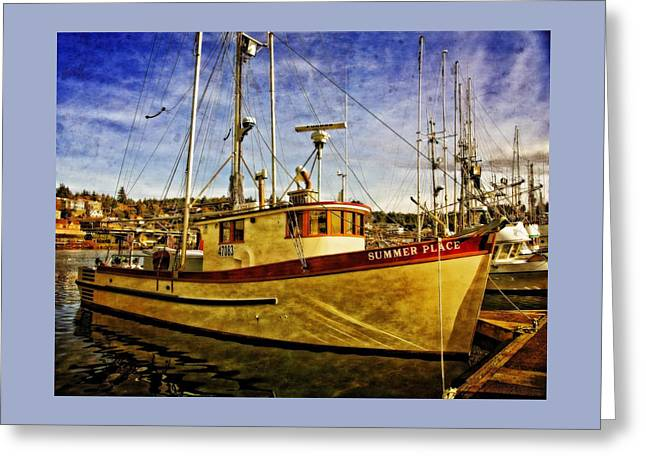 Fishing Boats Greeting Cards - Summer Place Greeting Card by Thom Zehrfeld
