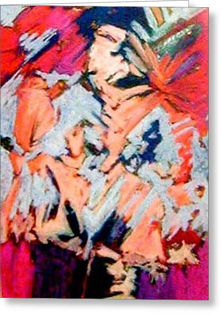 Figural Pastels Greeting Cards - Summer Psychosis Greeting Card by Michal Rezanka