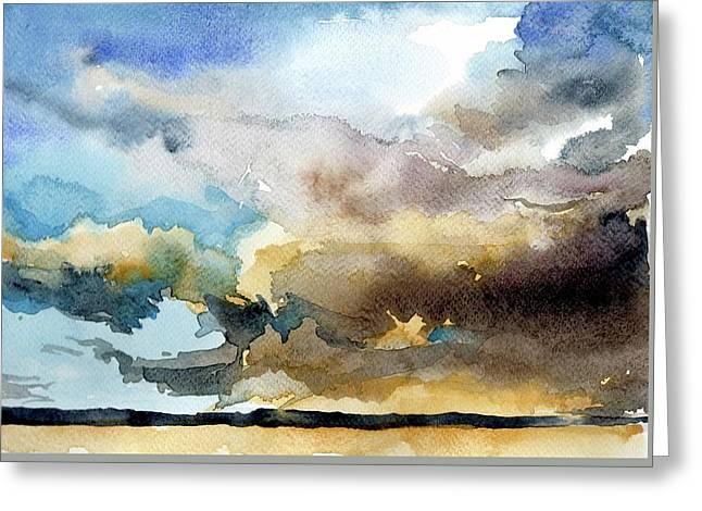 Summer Sandstorm Greeting Card by Stephanie Aarons