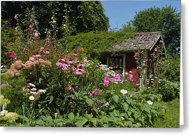 Summer Secret Garden Greeting Card by Tina M Wenger