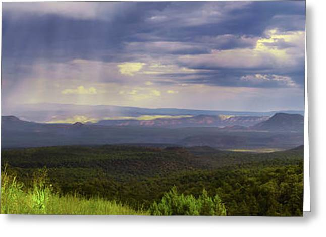 Scenic Drive Greeting Cards - Summer Showers Greeting Card by Rick Furmanek