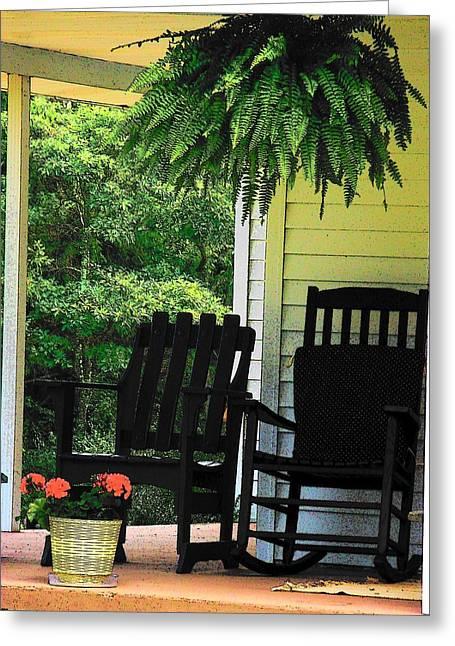 Summer Sitting Greeting Card by Joyce Kimble Smith