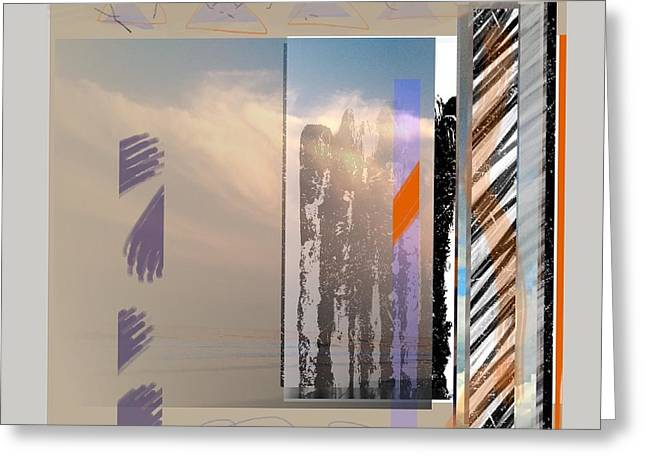 Abstract Handbag Drawing Greeting Cards - Summer Sky 1 Greeting Card by Janis Kirstein