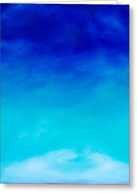 Tidal Creek Scene Greeting Cards - Summer Sky Greeting Card by Alexandra Nicole Newton