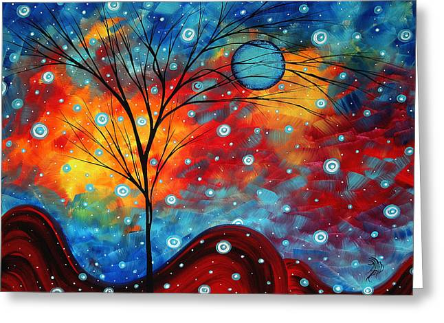 Summer Snow By Madart Greeting Card by Megan Duncanson