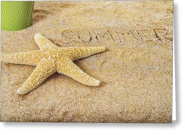 Beach Cottage Style Greeting Cards - Summer Starfish Greeting Card by Marianne Campolongo