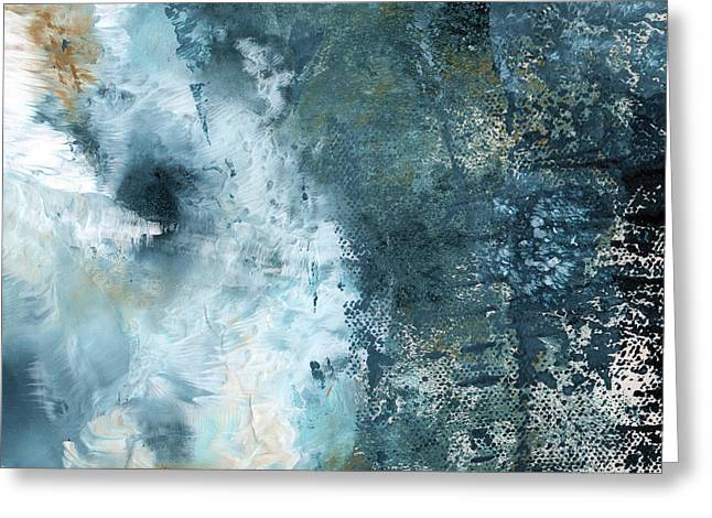 Sand Mixed Media Greeting Cards - Summer Storm- Abstract Art by Linda Woods Greeting Card by Linda Woods