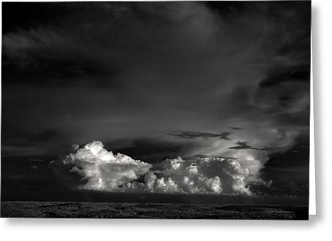 Summer Storm Greeting Cards - Summer storm clouds Greeting Card by Laszlo Gyorsok