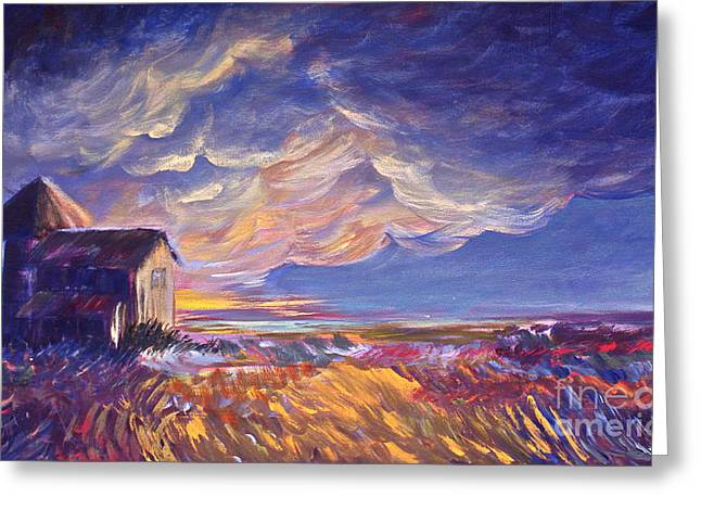 Summer Storm Paintings Greeting Cards - Summer Storm Greeting Card by Joanne Smoley