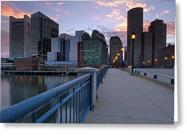 Boston Photos Greeting Cards - Summer Street Bridge Greeting Card by Juergen Roth