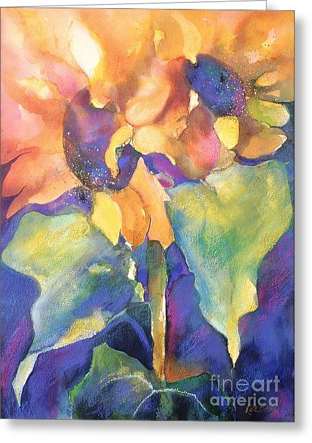 Floral Greeting Cards - Summer Sunflowers Greeting Card by Kate Bedell