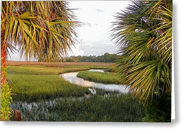 Cedar Key Greeting Cards - Summer Sunrise and Rain I Greeting Card by Sheri McLeroy