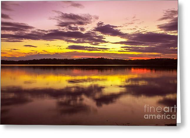 Nature Scene Greeting Cards - Summer sunset 1 Greeting Card by Claudia Mottram