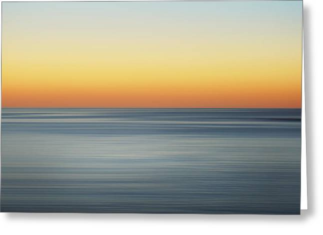 Abstract Beach Landscape Greeting Cards - Summer Sunset Greeting Card by Az Jackson