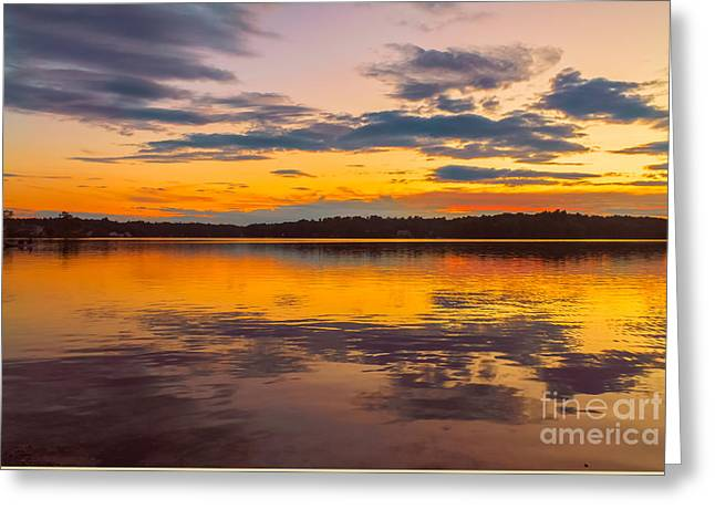 Sheds Greeting Cards - Summer sunset Greeting Card by Claudia Mottram