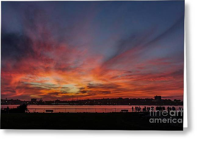 Maine Lighthouses Greeting Cards - Summer Sunset in Maine Greeting Card by Joe Far Photos