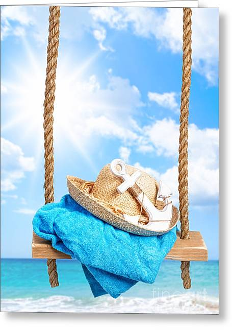 Summer Swing Greeting Card by Amanda And Christopher Elwell
