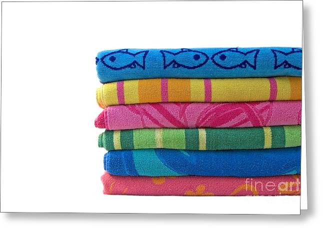 Beach Towel Greeting Cards - Summer Time 2 Greeting Card by Jeannie Burleson