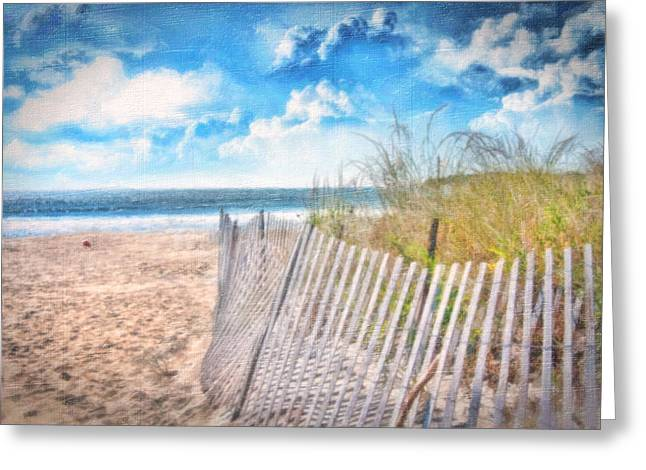 Seaside Digital Greeting Cards - Summer Time Greeting Card by Gina Cormier