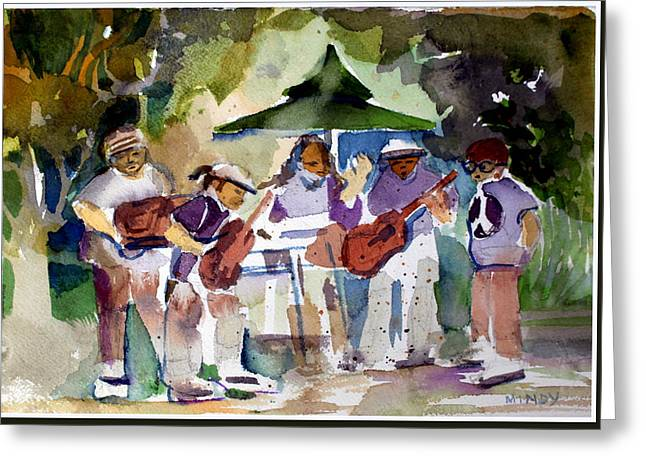 Music Drawings Greeting Cards - Summer Time Music Greeting Card by Mindy Newman