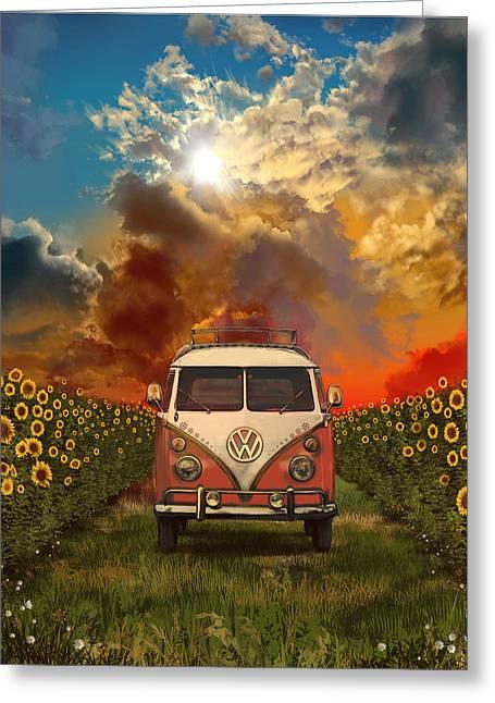 Summer Trip Greeting Card by Bekim Art