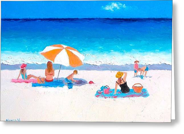 Ocean Greeting Cards - Summer Vacation Greeting Card by Jan Matson