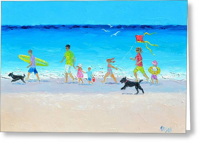 Summer Vacation Time Greeting Card by Jan Matson