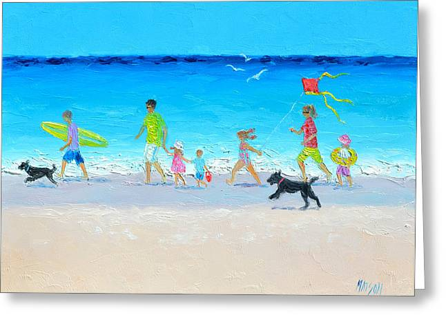Beach Cottage Style Greeting Cards - Summer Vacation Time Greeting Card by Jan Matson