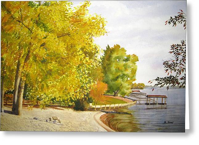 Lake Wylie Greeting Cards - Summers End Greeting Card by Shirley Braithwaite Hunt