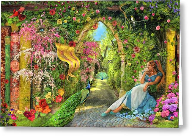 Archway Greeting Cards - Summers Garden Greeting Card by Aimee Stewart