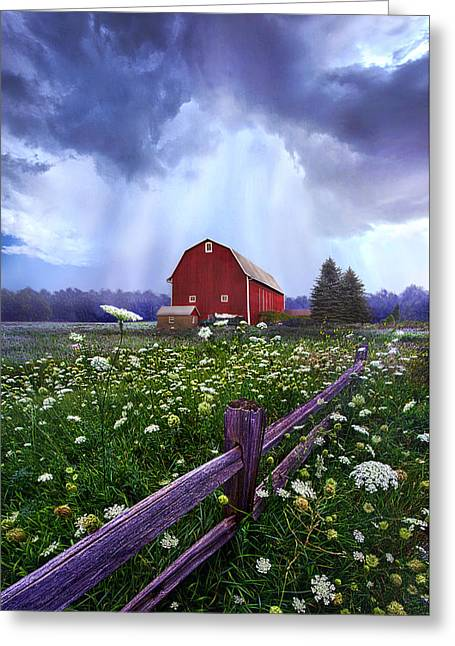 Barn Storm Greeting Cards - Summers Shower Greeting Card by Phil Koch