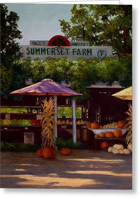 Farm Stand Pastels Greeting Cards - Summerset Farm Greeting Card by Candice Ferguson