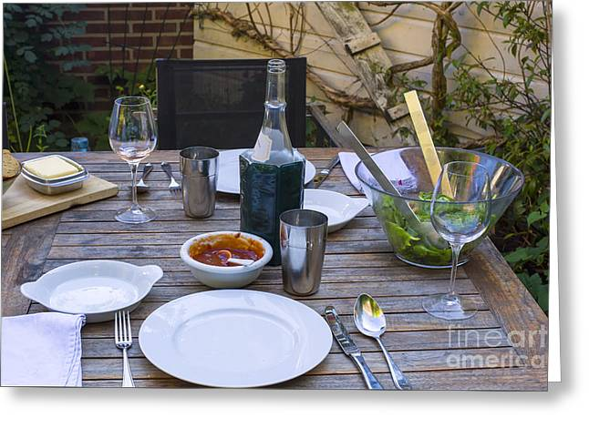 Mealtime Greeting Cards - Summertime dinner Greeting Card by Patricia Hofmeester