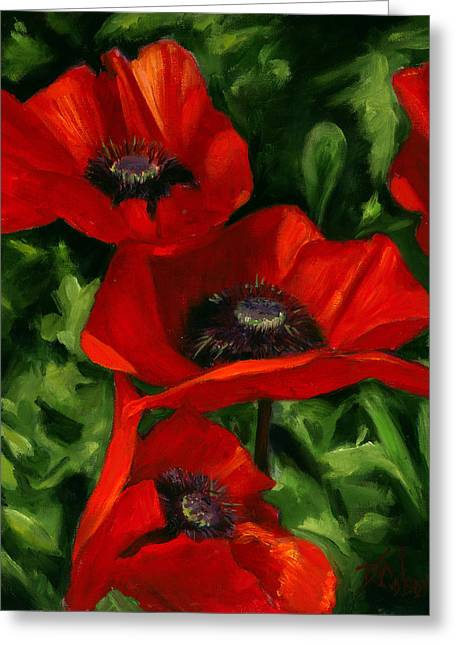 Garden Art Greeting Cards - Summertime Festival Greeting Card by Billie Colson