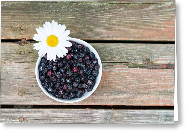 Berry Greeting Cards - Summertime Fresh Greeting Card by Sian Cox