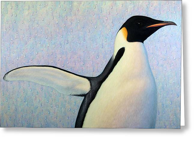 Penguins Greeting Cards - Summertime Greeting Card by James W Johnson