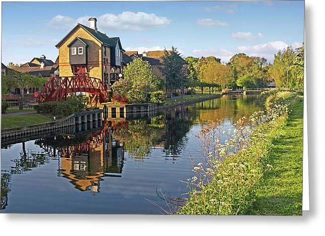Summertime On The River - Sawbridgeworth Greeting Card by Gill Billington