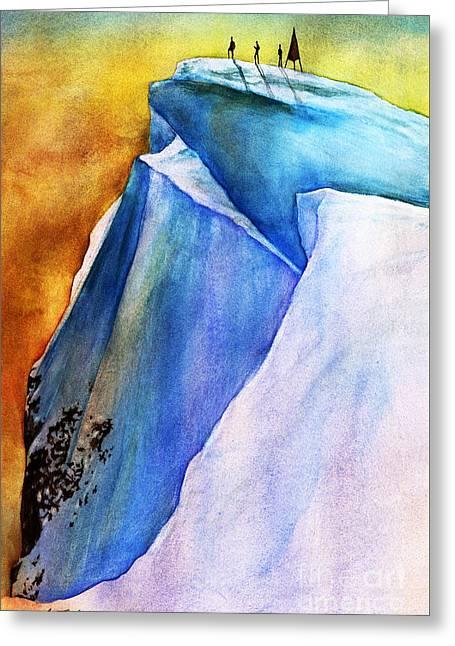 Summit Greeting Card by Hailey E Herrera