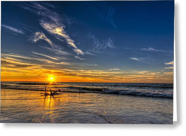 Sun And Surf Greeting Card by Marvin Spates