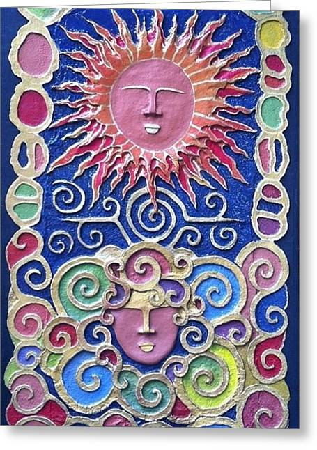 Sun And Wind 2 Greeting Card by Otil Rotcod