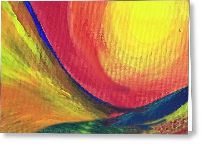 Sun Greeting Card by Ashima Kaushik