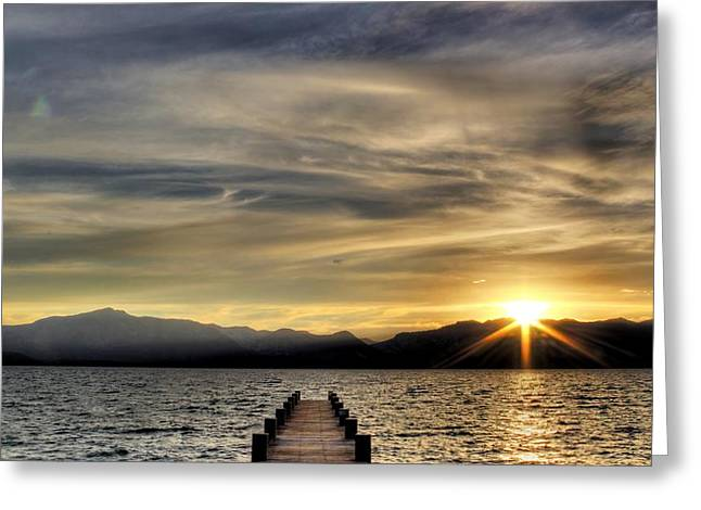 Brad Scott Greeting Cards - Sun Burst Greeting Card by Brad Scott
