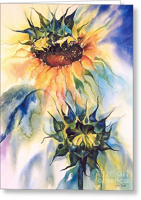 Kate Bedell Greeting Cards - Sun Burst Greeting Card by Kate Bedell
