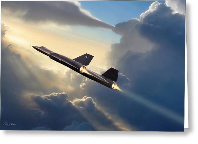 Kelly Greeting Cards - Sun Chaser SR-71 Greeting Card by Peter Chilelli