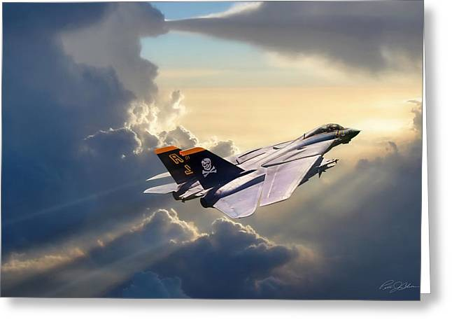 Grumman Greeting Cards - Sun Chaser VF-84 Greeting Card by Peter Chilelli