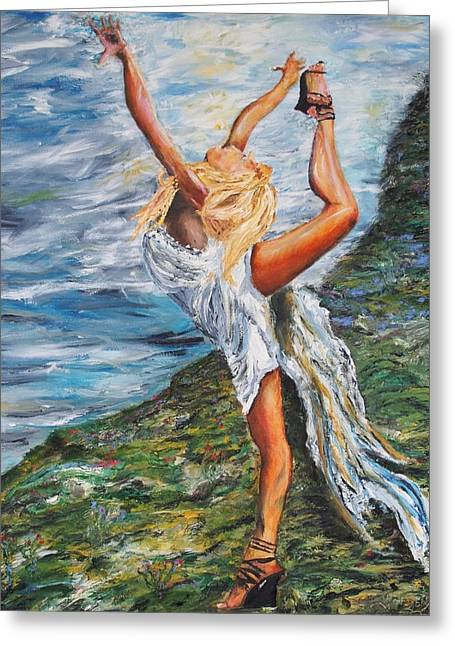 Sun Dancer Nastia Greeting Card by Gregory Allen Page