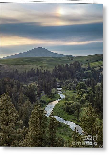 Sun Dog On The Palouse Greeting Card by Idaho Scenic Images Linda Lantzy
