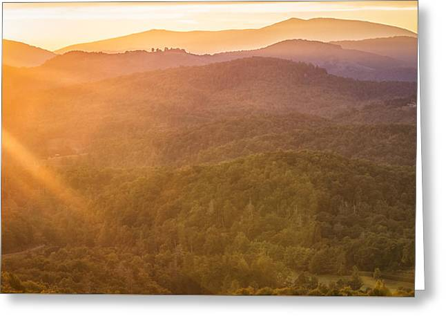 Sun Flare Greeting Card by Victor Ellison