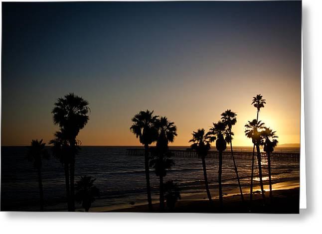 sun going down in california Greeting Card by Ralf Kaiser