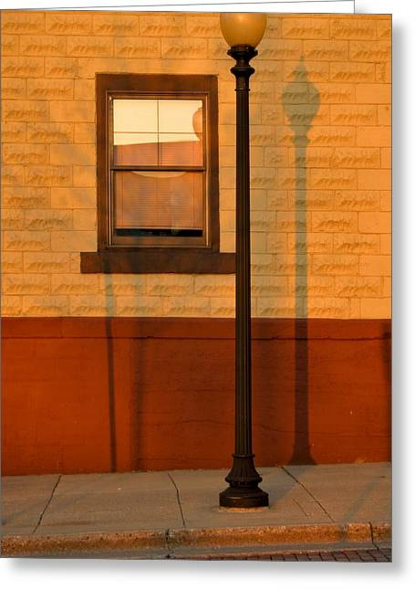Streetlight Greeting Cards - Sun Going Down Greeting Card by Odd Jeppesen